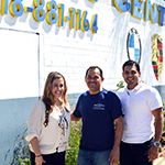 VIP Collision owner Jesus Rodriguez (center) has worked closely with the South Valley BusinessSource Center to open and grow his autobody business in San Fernando Valley, CA