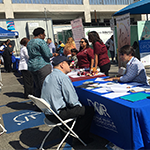 job seekers visiting employer booths at the Hollywood WorkSource Center's 4th Annual Job and Resource Fair for National Disability Employment Awareness Month on October 3, 2019
