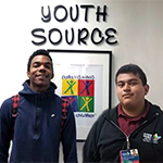 Para Los Niños YouthSource Center helped Kevion (left) resume his education, and Andres (right) start a career path
