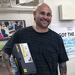 David Oliva (left) found a full-time job within two weeks after being released from prison With help from the Vernon-Central/LATTC WorkSource Center and Career Coach Jessica Fuentes (right)