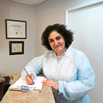Dr. Anna Harmandarian, D.D.S., owner of Anna Hamandarian Family Dentistry in Los Angeles, who was assisted by BusinessSource