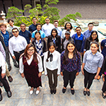 30 Hire LA's Youth participants pose for their 2019 summer youth employment orientation picture at LADWP's Bureau of Sanitation