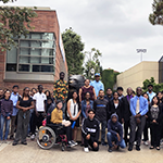 50 Hire LA's Youth internship participants at the University of California, Los Angeles (UCLA) campus