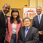 (left to right) EWDD IGM John L Reamer, Junior, REDF Principal Consultant Strategic Partnerships Vivienne Lee, City of LA Workforce Development Board Chair Charlie Woo and EWDD Assistant General Manager Robert Sainz